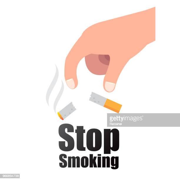 stop smoking - quitting smoking stock illustrations, clip art, cartoons, & icons