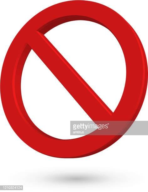 ilustraciones, imágenes clip art, dibujos animados e iconos de stock de símbolo de parada inclinado - prohibido