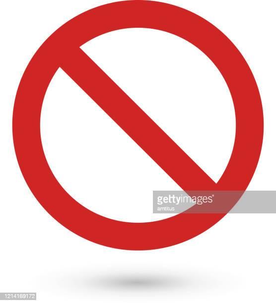 illustrations, cliparts, dessins animés et icônes de symbole d'arrêt - panneau sens interdit