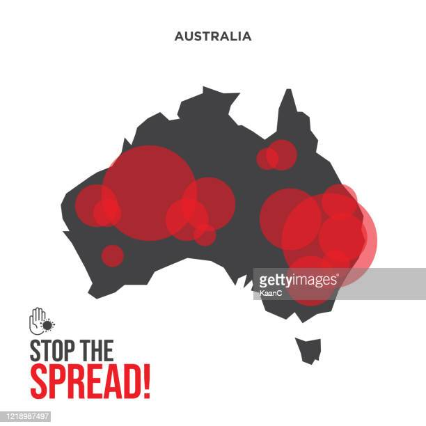 stop the spread! covid-19 outbreak influenza as dangerous flu strain cases as a pandemic concept banner flat style illustration stock illustration - australia stock illustrations