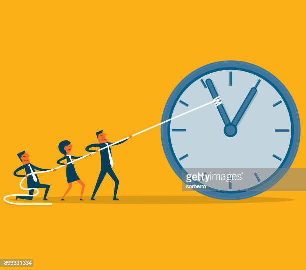 stop time - business team - slow motion stock illustrations