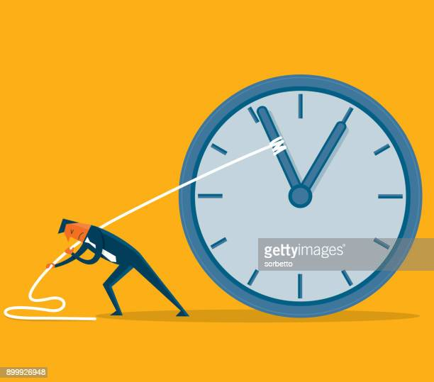 Stop time - Businessman