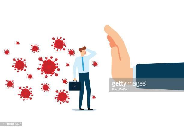 stop virus - stop sign stock illustrations