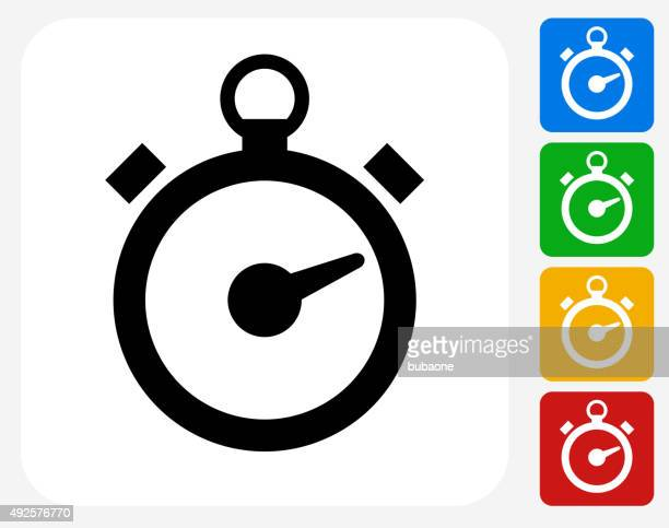 Stop Watch Icon Flat Graphic Design