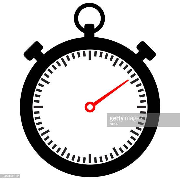 stop watch icon flat graphic design - sport set competition round stock illustrations