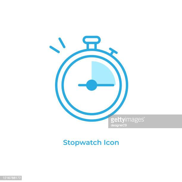stoppuhr und timer line icon vector design. - stoppuhr stock-grafiken, -clipart, -cartoons und -symbole