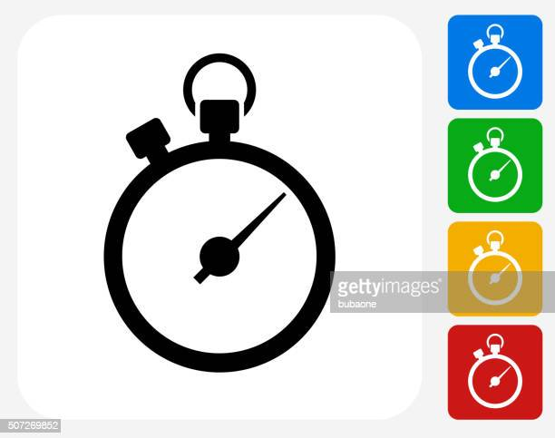 Stopwatch Icon Flat Graphic Design