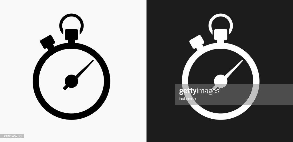 Ícone de cronômetro em preto e branco Vector Backgrounds : Ilustração