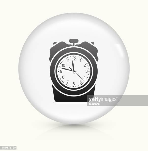 Stopwatch icon on white round vector button