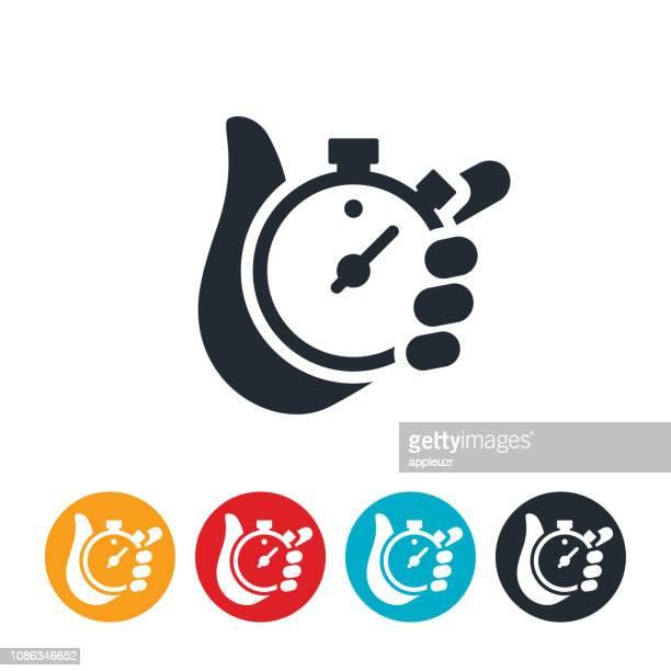 ilustrações, clipart, desenhos animados e ícones de ícone de cronômetro - cronômetro instrumento para medir o tempo