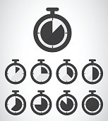 stopwatch icon, vector illustration. Flat design style