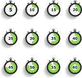 Stopwatch Icons