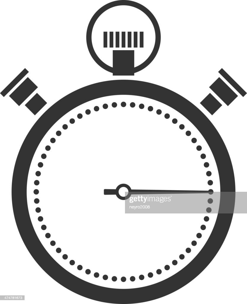 stopwatch or chronometer icon