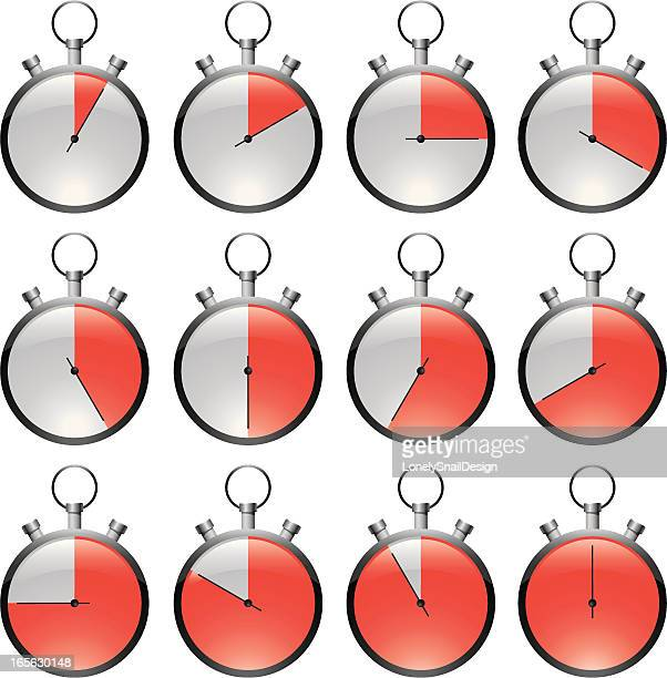 Stopwatch red
