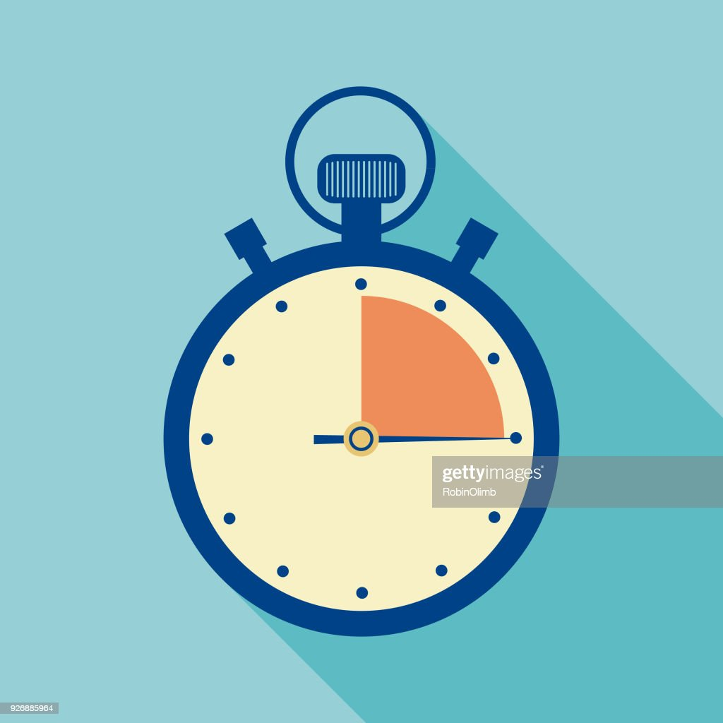 Stopwatch Timer Icon : Stock Illustration
