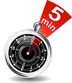 A stopwatch with five minutes highlighted