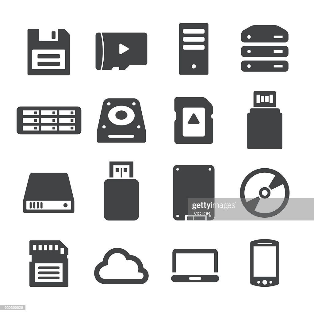 Storage and Memory Icons - Acme Series