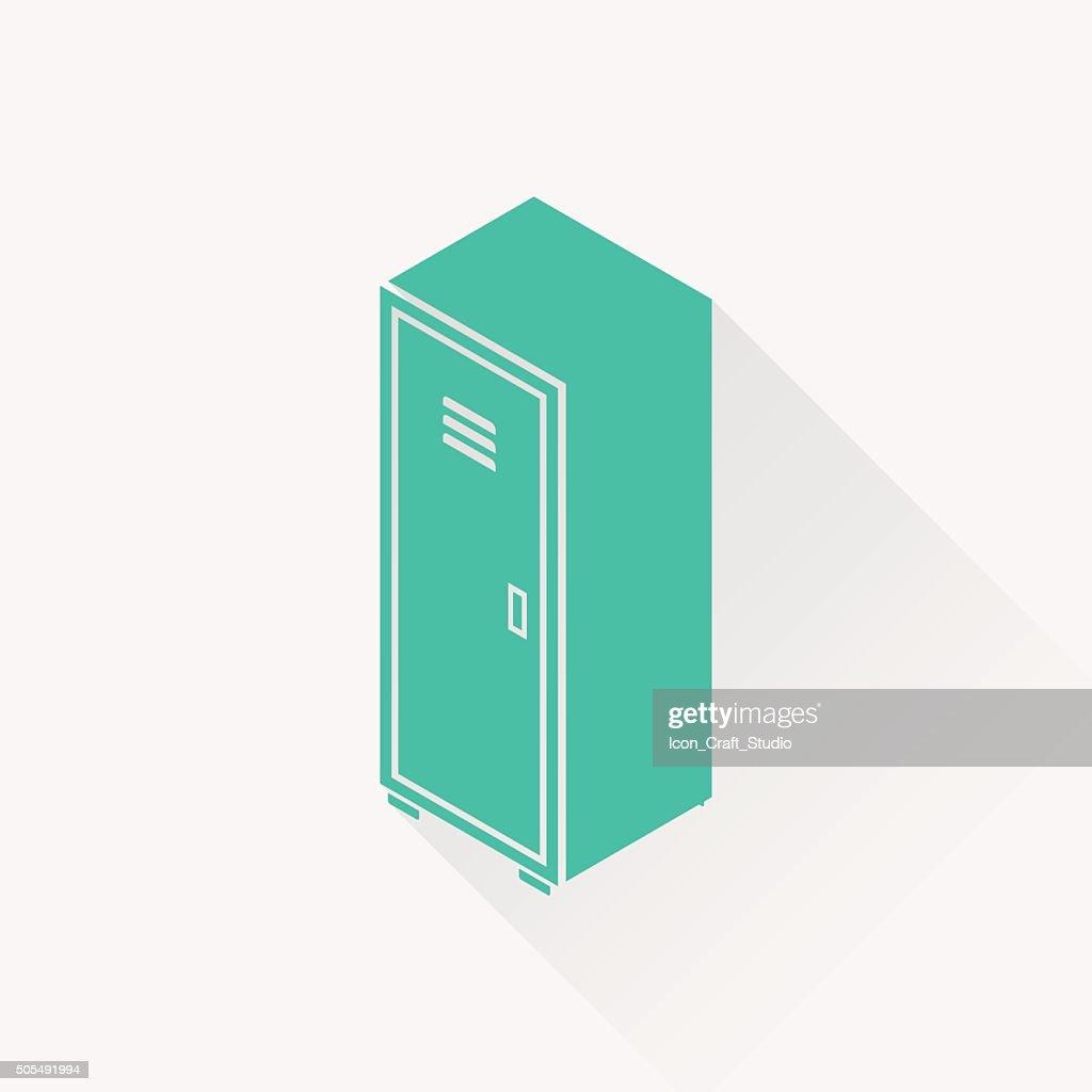 storage cabinet isometric 3d icon