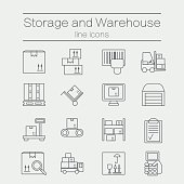 Storage line icons.