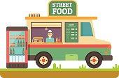 Store fast food van