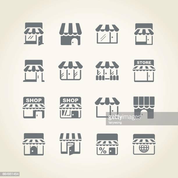 store icon - retail display stock illustrations
