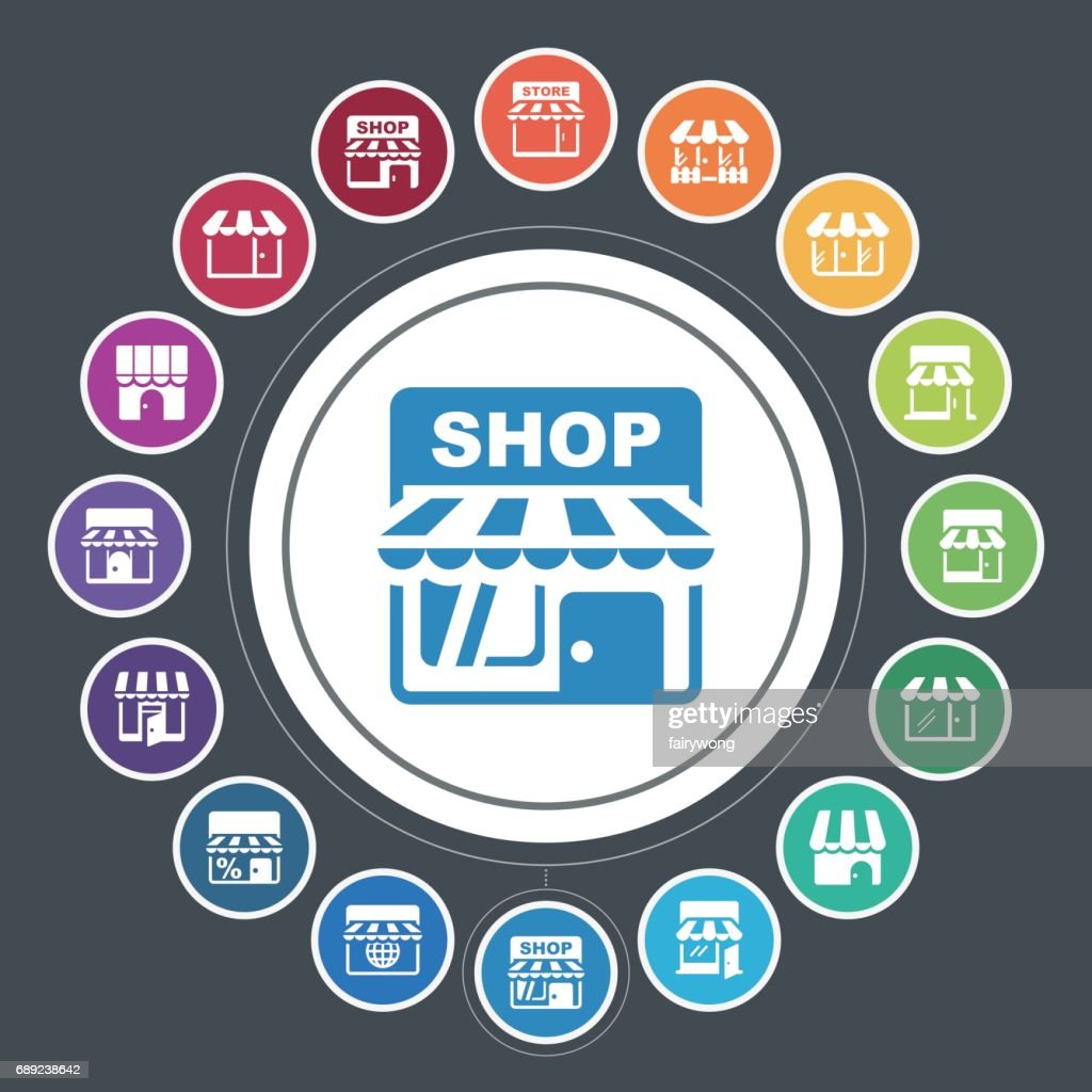 Store icons : Stock Illustration