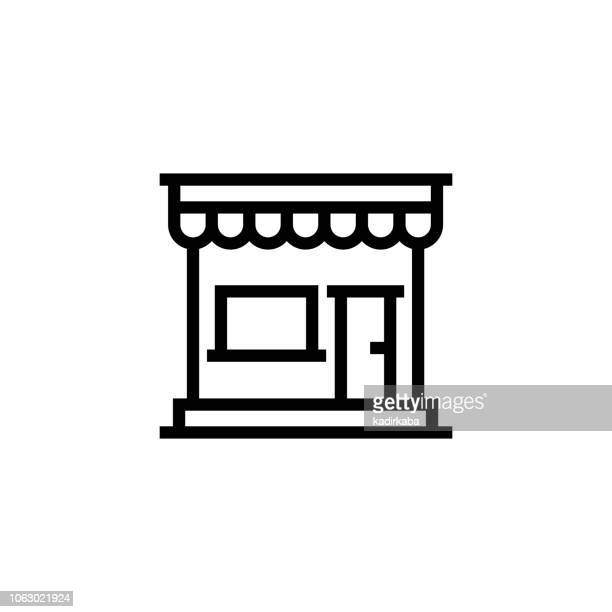 store line icon - retail display stock illustrations, clip art, cartoons, & icons