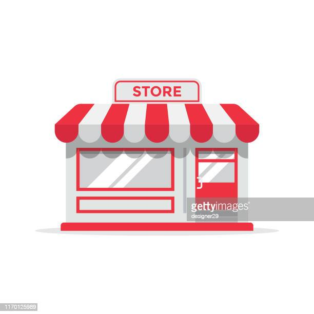 store or shop icon flat design. - {{asset.href}} stock illustrations