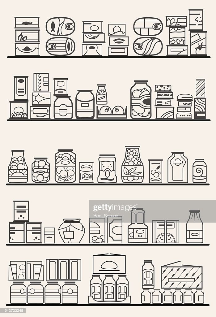 store shelves with goods