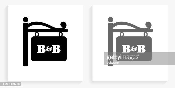 store sign black and white square icon - store sign stock illustrations