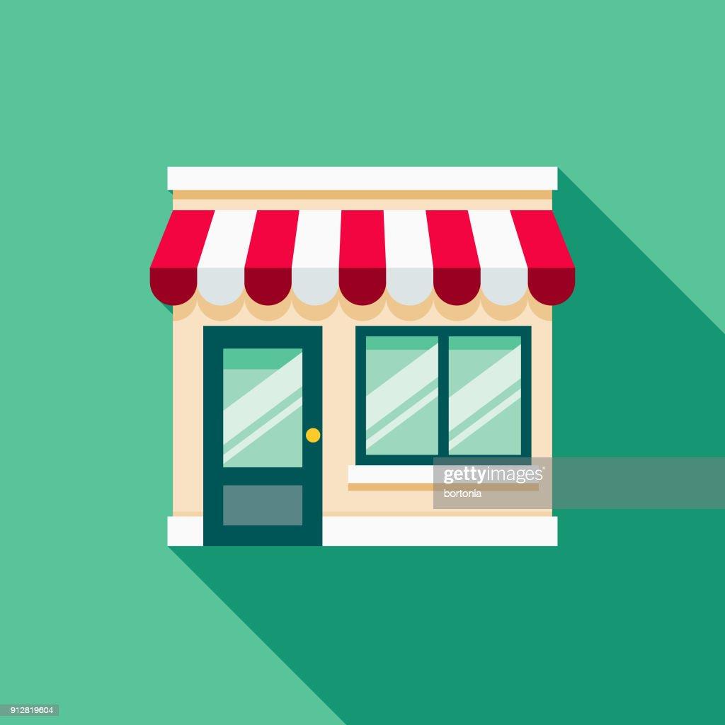 Storefront Flat Design E-Commerce Icon