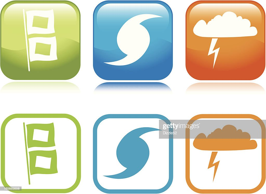 Storm Icons : stock illustration