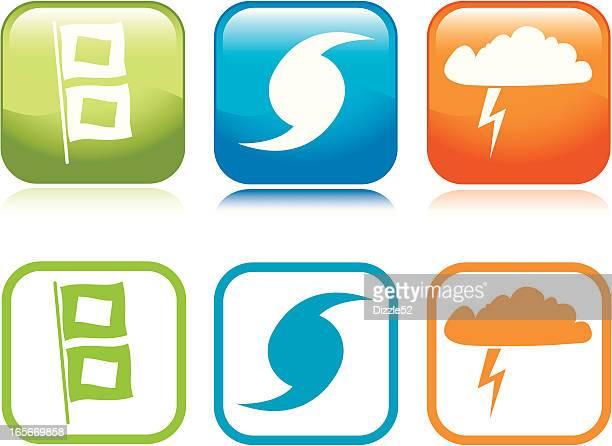 storm icons - hurricane stock illustrations, clip art, cartoons, & icons