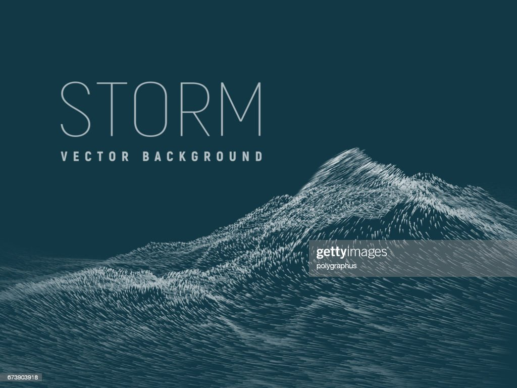 Storm. Vector background