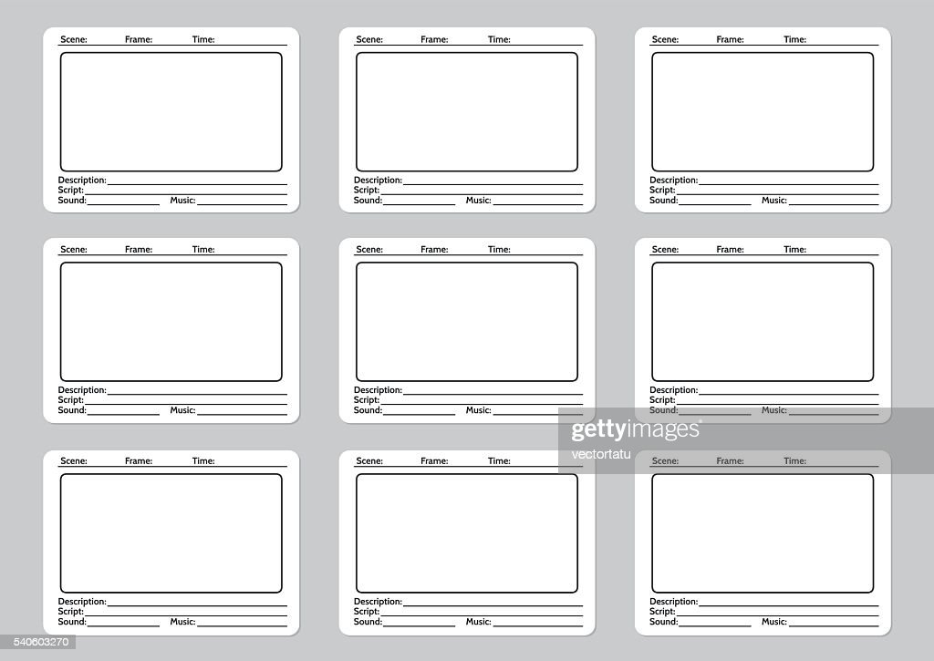Storyboard template for film story