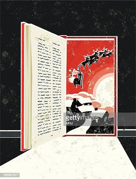 Storybook porta de entrada, mostrando o Pai Natal Trenó cena
