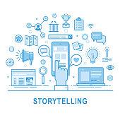 Storytelling vector icon set.