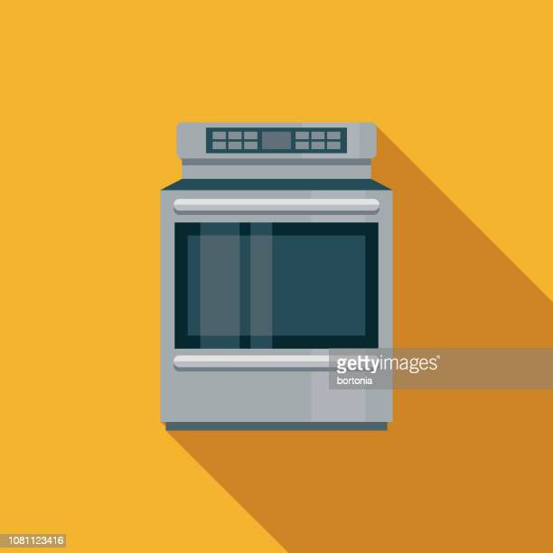 Stove Flat Design Appliance Icon