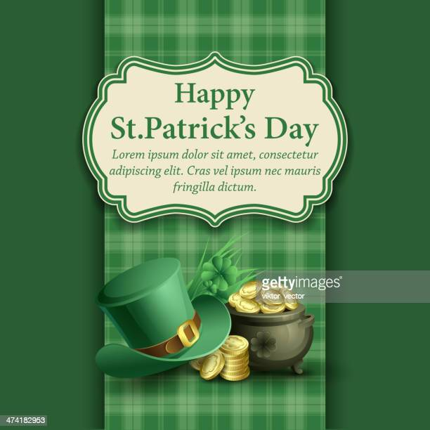 st.patrick's day background. vector illustration - irish culture stock illustrations