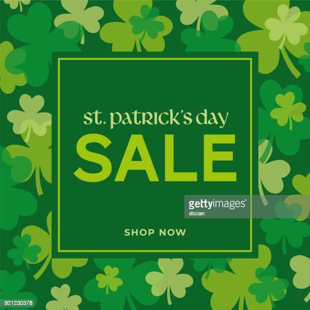 st.patrick's day sale background. - illustration - st. patrick's day stock illustrations, clip art, cartoons, & icons