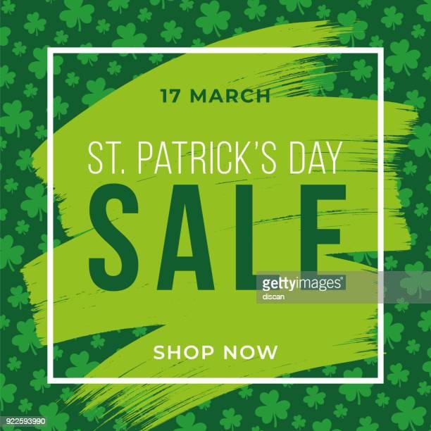 St. Patrick es Tag Verkauf Hintergrund