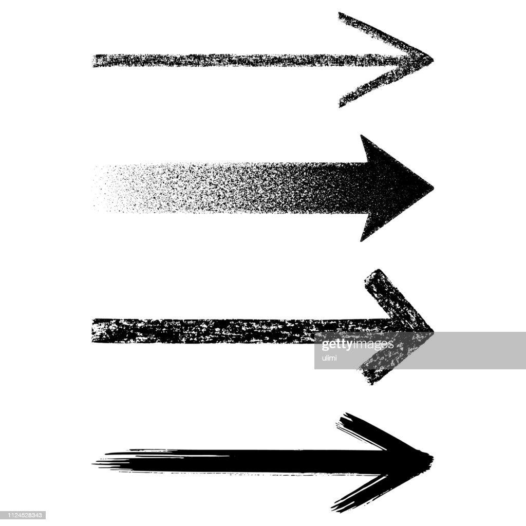 Straight grunge arrows