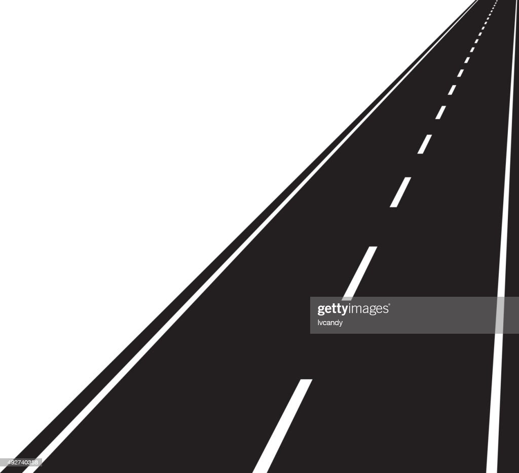 Straight Road Vector Art | Getty Images
