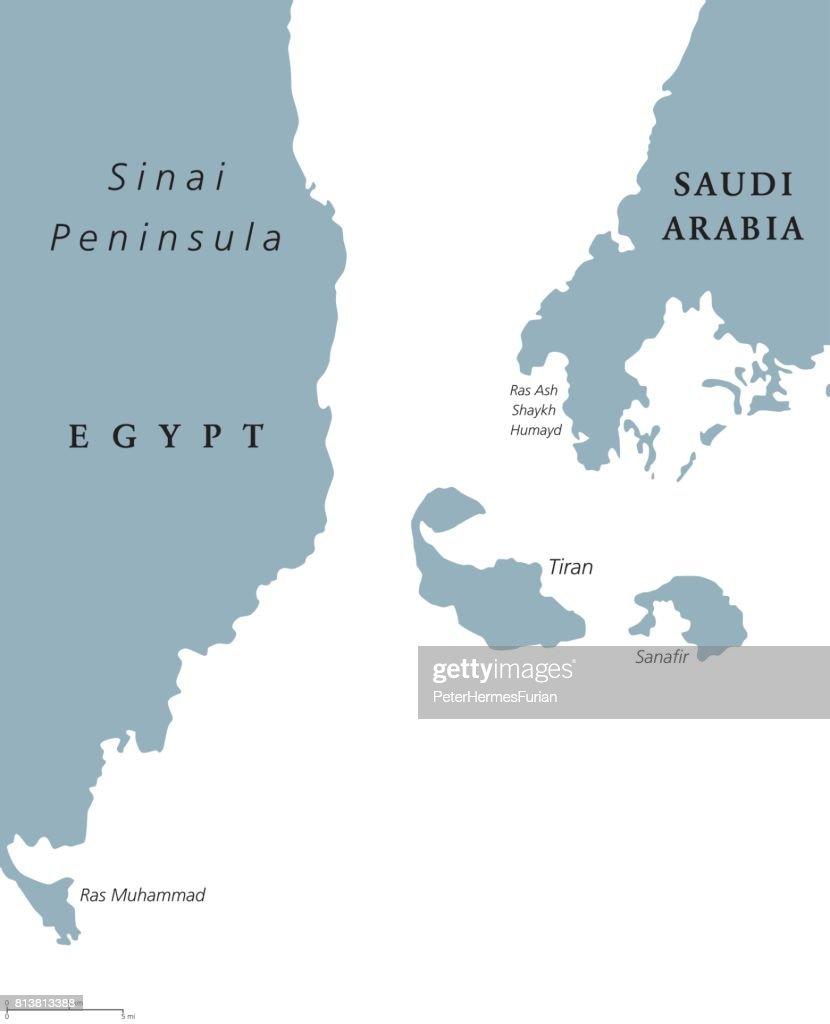 Straits of Tiran political map