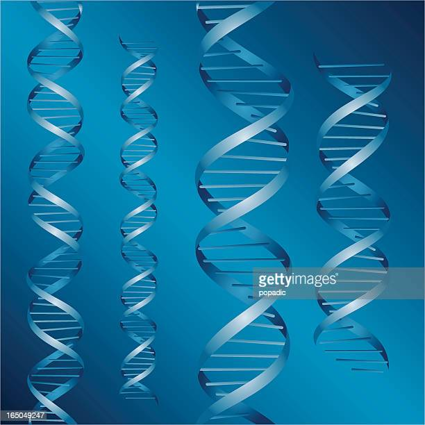 dna strands vector - twisted stock illustrations, clip art, cartoons, & icons