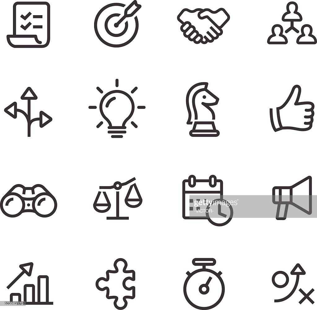 Strategy and Business Icons - Line Series