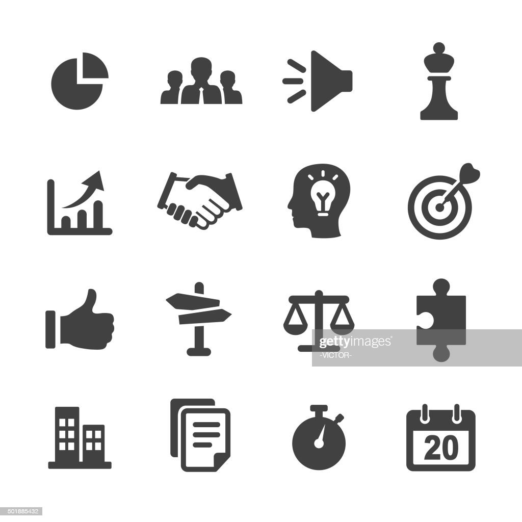 Strategy and Business Icons Set - Acme Series