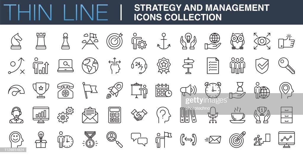 Strategie en beheer pictogrammen collectie : Stockillustraties