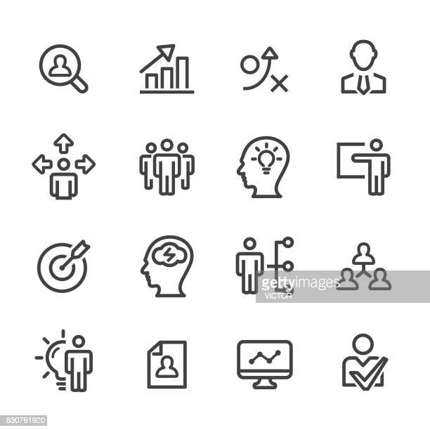 Strategy and Management Icons - Line Series