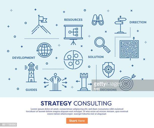 strategy consulting concept - mountain peak stock illustrations, clip art, cartoons, & icons